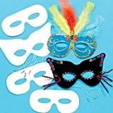 Lot de 12 Masques à personnaliser - Idéal pour le Carnaval