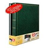 Lot de 2 albums traditionnels jumbo 100 pages pour 500 photos 10x15 - Vert