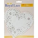 Lot de 20 napperons en Papier en forme de cœur 15 cm 18/Pkg blanc Par des Notions de réseau