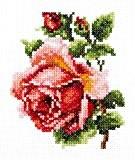 Lot de 3 Kits de broderie point de croix pour débutant/facile/fleurs