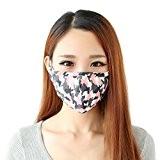 Lot de 3 Masques Extérieur Anti-poussière et Anti-haze/Anti-brume PM2.5 Masque en Coton Chaud Respirant Motif Camouflage Soins de Santé Earloop ...