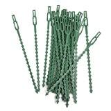 Lot de 30pcs 16.5cm Serre-câble Lien en Plastique pour Jardinage Bricolage - Vert