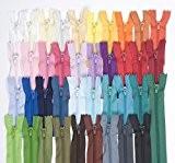 Lot de 39 fermetures Éclair Différents coloris 22 cm
