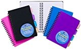 Lot de 5 carnet de notes A6, 100 pages à lignes + 4 intercalaires par carnet