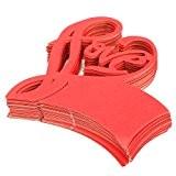 Lot de 50 Carte de Verre Marque Place Forme de Coeur Love Décoration de Table pour Mariage - Rouge