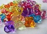 Lot de 50 nœuds Papillon en perles poney mélanger Transparent 12 mm x 15 mm