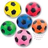 Lot de 6 Balles Ultra Rebondissantes - Motif Football - Idéal pour les amateurs de Foot