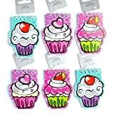 Lot de 6 petites filles carnets à cupcakes Motif fête des agents de remplissage de sac-cadeau