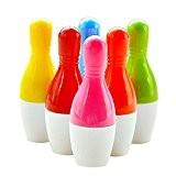 Lot de 6 Stylo à Bille Rétractable Bowling Crayon Fournitures de Bureau pour Ecole ou Bureau Couleur Random