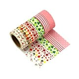 Lot de 6 Washi Tape Masking Tape Ruban adhésif décoratif coloré Scrapbooking -Q6
