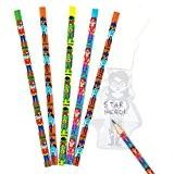 Lot de 8 Crayons Super Héros Étoilé - Idéal comme cadeau de pochette surprise