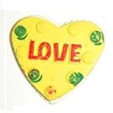 LOVE à confiture avec coeur à tarte-Gomme fantaisie en caoutchouc