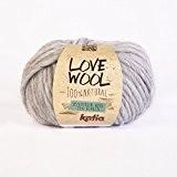 Love Wool, épais Mèche de fil de Katia dans gris clair (105)