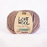 Love Wool, épais Mèche de fil de Katia dans Rosé (109)