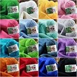 LQZ(TM) Pelotes de Laine coton Bambou à tricoter crochet naturel doux épais bébé enfants cadeau (bleu eau)