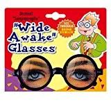 Lunettes fantaisies pour dormir avec yeux éveillés farces et attrapes en classe marrant accessoires fête party déguisement