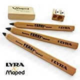 Lyra Jante & Maped-Early Learning écriture et de dessin-Crayons en Bois Naturel et taille-crayons avec gomme Jumbo