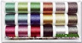Madeira 8020 Metallic Supertwist Boîte fils à broder 18 bobines de 200 m
