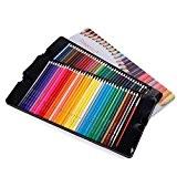 Magicfly - 72 Couleurs Crayons de couleur aquarellable Crayons d'artiste Crayons à Dessin avec 2 Pinceaux avec boîte en fer
