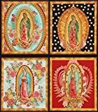 Magnifique tissu Robert Kaufman motif Vierges Marie colorées