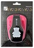 Mahé OPXD12 Grande perforatrice motif Ourson Plastique Noir 12 x 17 x 7 cm