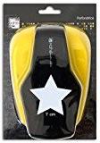 Mahé OPXF09 Perforatrice géante motif Etoile Plastique Noir 13 x 19 x 10 cm