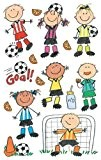"Mambi Minis Stickers 4.5""X6"" Sheet 3/Pkg-Soccer Kids by Notions - In Network"