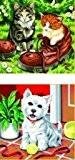 Mammut - Lot de 2 Peintures au numero - Chats et chien