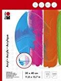 Marabu Pochoir Motif 161200013Tampon de peinture avec Acrylique couleurs, 30x 40cm-360g