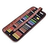 Marco 24crayons de couleur eau + gomme en caoutchouc + parblo Crayon Extender + 36couleurs Rouleau Pochette à multifonctions pour ...