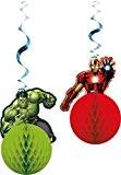 Marvel Avengers Assemble Tissu nid d'abeille boule Parti Décorations, Lot de 2