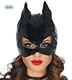 Masque de CatWoman en vinyle noir pour costumes sexy