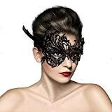 Masque Loup Venitien en Dentelle Deguisement pour la Soiree Masque de Bal Mascarade Halloween Partie Vampire Balle