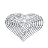 Matrices de découpe, Yogogo Fleur coeur Metal Cutting Dies pochoirs Scrapbooking bricolage Album papier carte Craft (D)