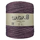 Maxi pelote de Trapilho. Fil de coton / jersey recyclé pour tricot ou crochet. Créer vos objets déco tendances. (Bordeau)