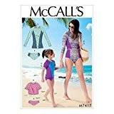 McCall's Patterns 7417 Miss Femme/Fille Maillot de bain patron de couture, soie, multicolore, tailles S - XL