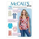McCalls Mesdames facile pour apprendre à coudre 7322Patron de Couture Hauts pour femme