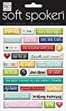 Me and my big Ideas Galets Aujourd'hui doux parlé Stickers 3D, matière synthétique, multicolore