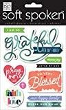 Me and my big Ideas I Am So Grateful doux parlé Stickers 3D, papier, multicolore