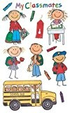 Me & My Big Ideas Mambi 4-1/2-Inch-by-6-Inch Minis Stickers 3-Sheets-Pack, School Kids by ME & MY BIG IDEAS