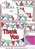 Merci de fanions ondulée Par Carol Clarke International Rangement d'angle