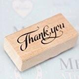 Merci Tampon en bois et caoutchouc pour artisanat et Scrapbooking et bricolage étiquettes cadeaux de remerciement pour invités mariage