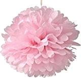 missley Lot de 10pompons papier de soie Rose boules de fleurs à suspendre Décoration Chambre Mariage Mariée 8inch rose