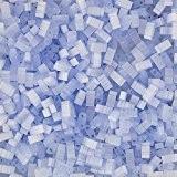 MIYUKI Half Tila 2Trou Perles soie bleu pâle (5mm) 7,8g