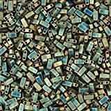 MIYUKI Half Tila Perles Métallique Mat Vert Iris-5mm