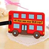 MMRM Porteur de carte d'itendité Style de bus de bande dessinée Voyage bagages valise tag nom de bagages adresse