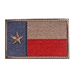 MMRM Texas Drapeau Patch Tactique Swat Militaire Ruban Armée Badge Brassard - Rouge
