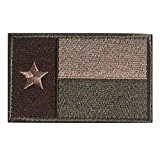 MMRM Texas Drapeau Patch Tactique Swat Militaire Ruban Armée Badge Brassard - Vert