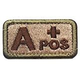 MMRM Type de Sang Patch Tactique Swat Militaire Ruban Armée Morale Badge - Type A Positif