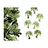 Mondial-fete - Confettis palmiers verts sachet 14 gr